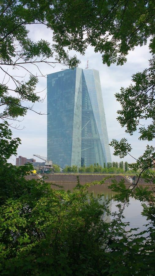 European Central Bank Frankfurt am Main royalty free stock photos