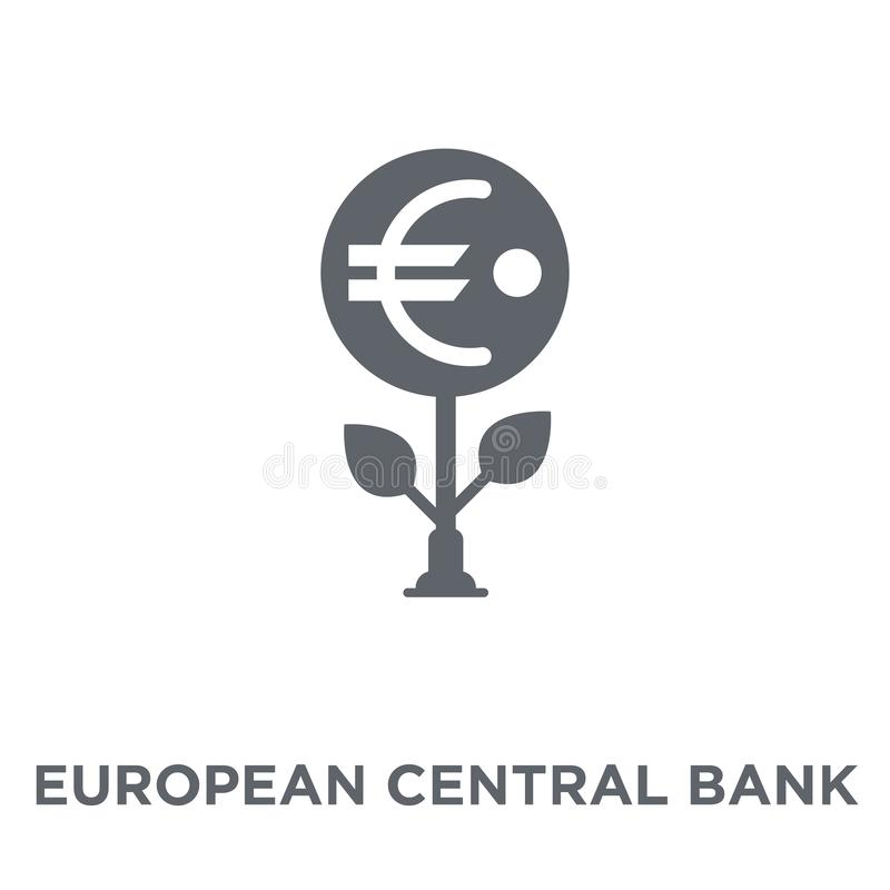 European Central Bank icon from European Central Bank collection stock illustration