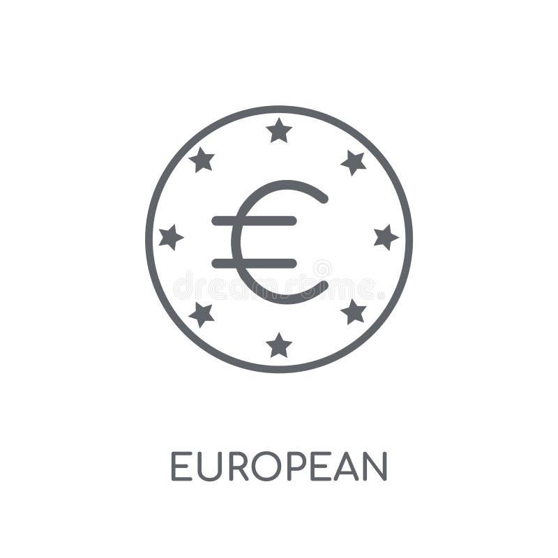 European Central Bank linear icon. Modern outline European Centr royalty free illustration