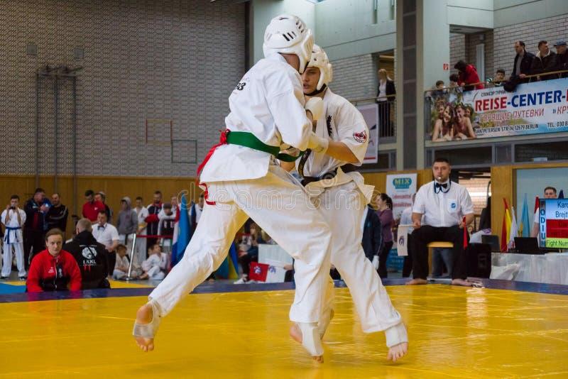 European championship Kyokushin World Union KWU for Children and Youth 2017 stock image