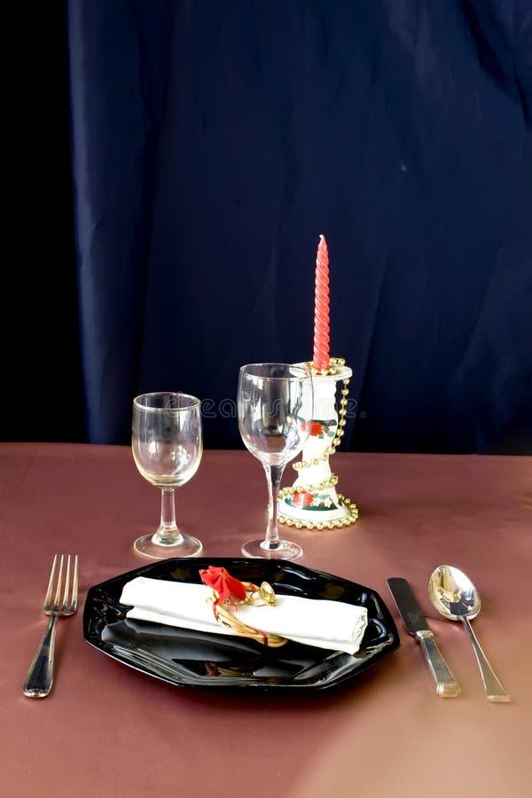 European christmas table stock photography