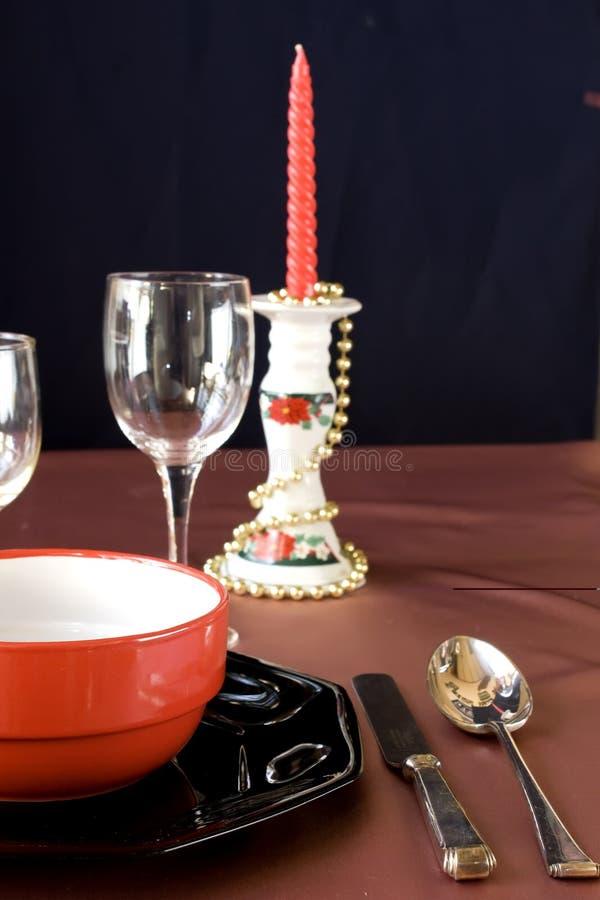 European christmas table royalty free stock image