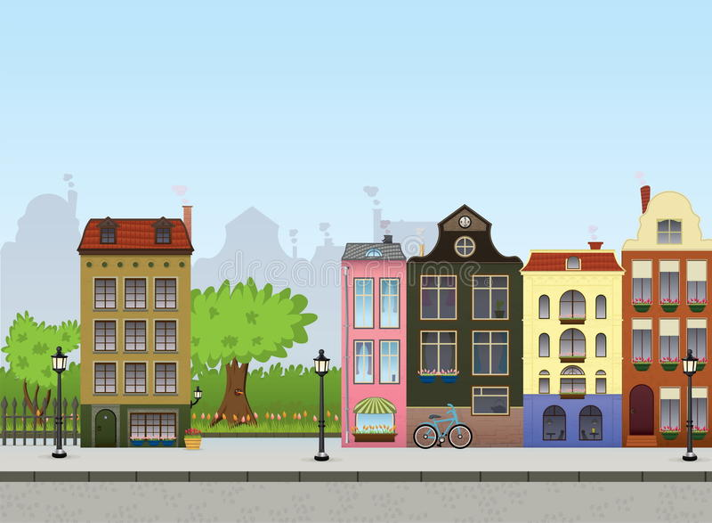 European Cityscape vector illustration
