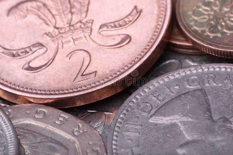 European coins extreme macro royalty free stock photography