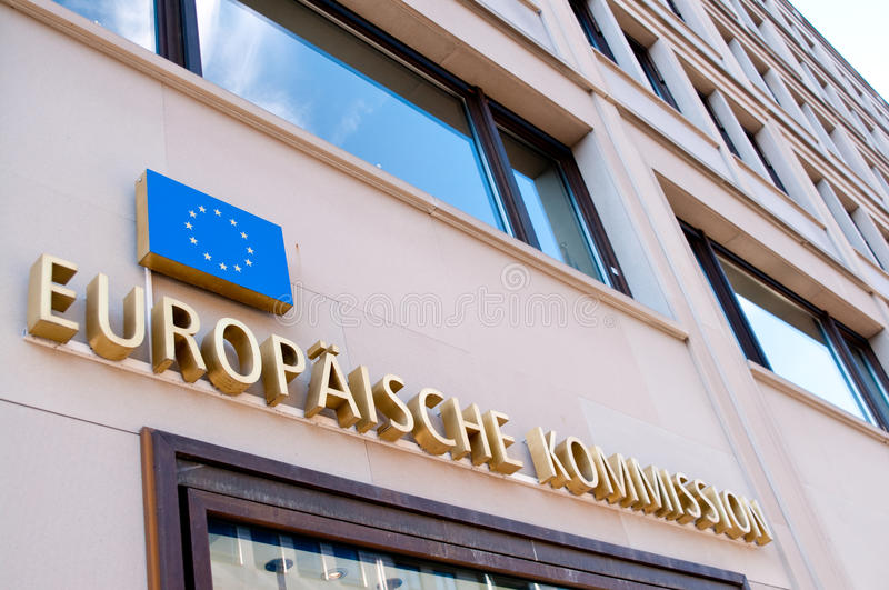 European Commission Berlin royalty free stock image