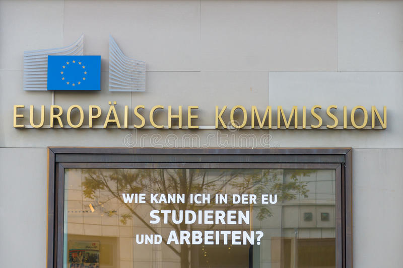 European Commission. BERLIN - OCTOBER 31, 2014: The European Commission (EC) is the executive body of the European Union responsible for proposing legislation stock images