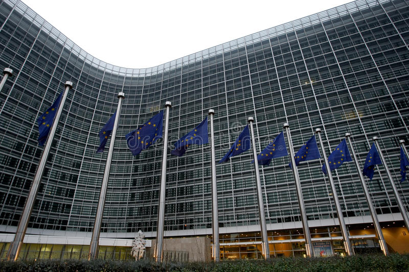 European Commission In Bruxelles Stock Images