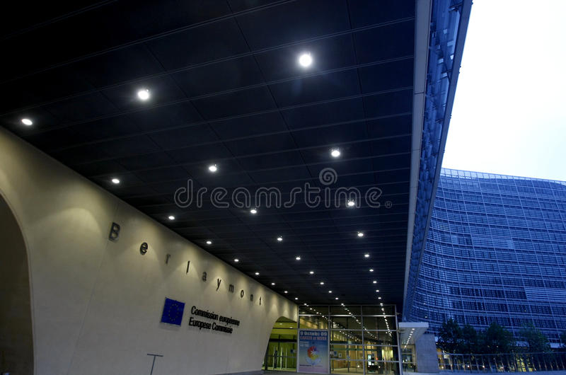 European Commission in Bruxelles. European Commission entrance in Brussels, Belgium royalty free stock images