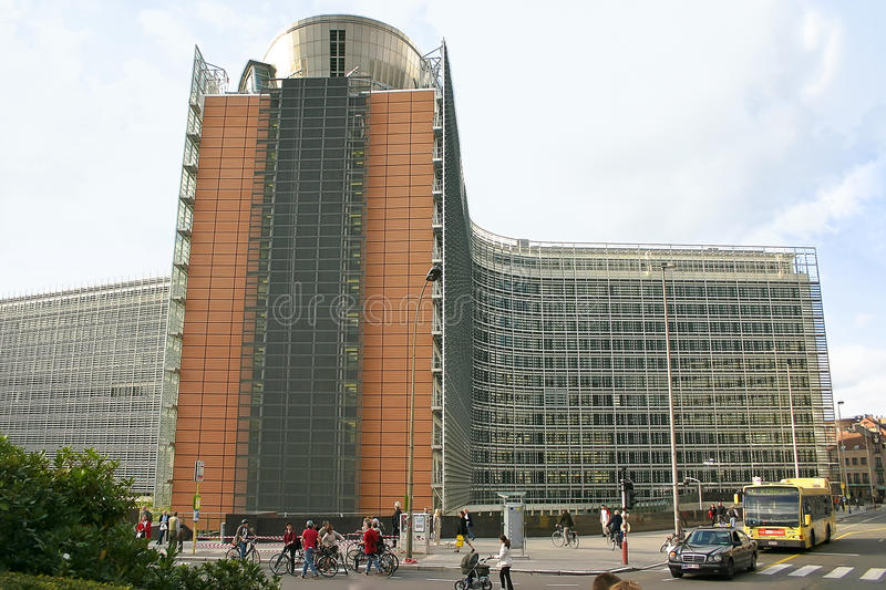 European commission building Brussels stock images