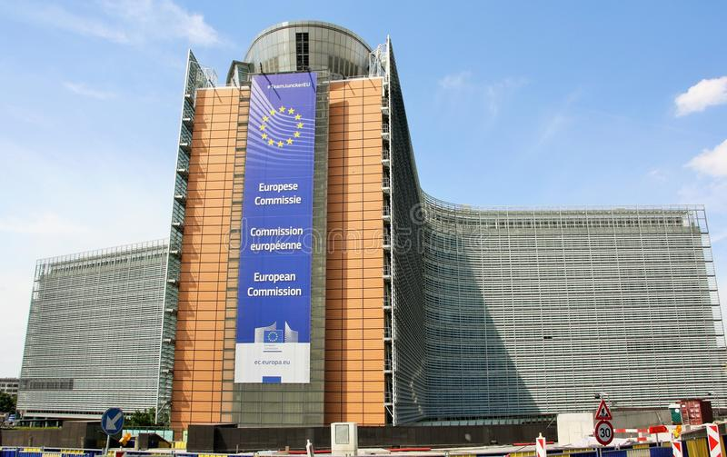 European Commission main building. Berlaymont - the main European Commission building in Brussels, the capital of Belgium. Built in 1963-1969, it quickly became royalty free stock image