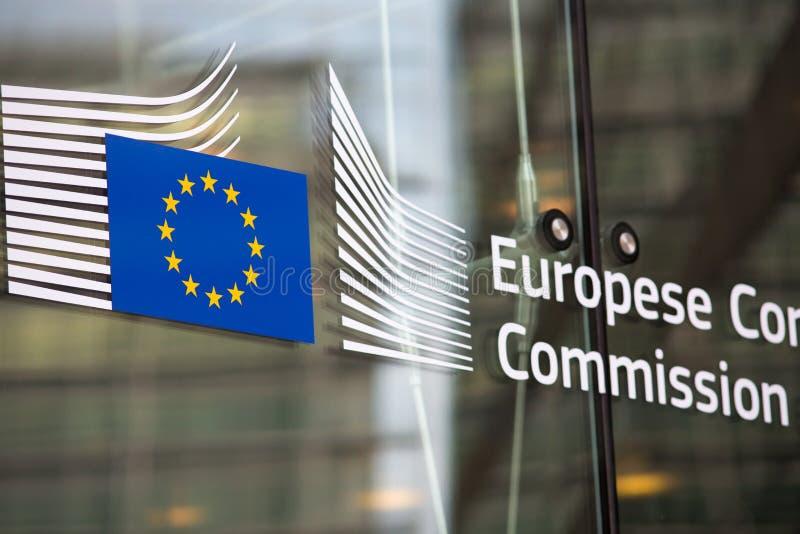 European commission official entry. European commission official building entry stock images