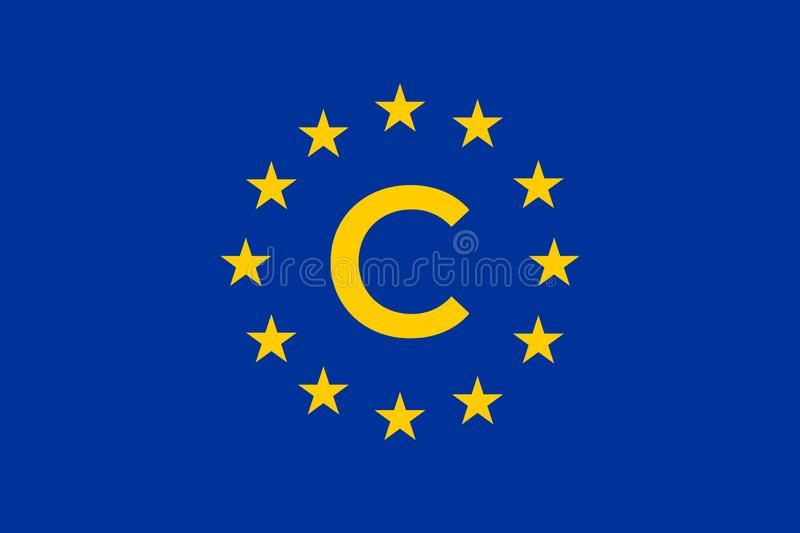 The european copyright directive including article 13 has been approved the european parliament.  royalty free illustration