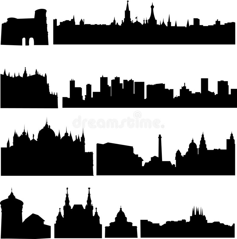 Download European Countries, The Most Famous Buildings Stock Vector - Illustration: 16757286