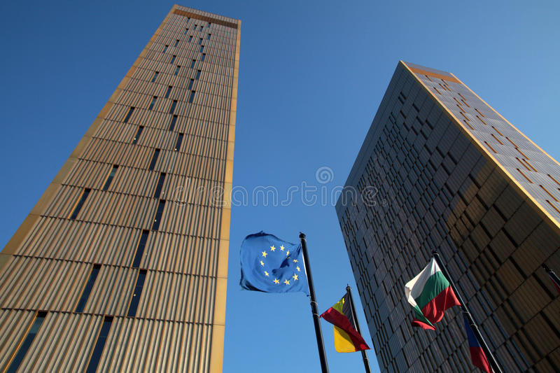 European Court of Justice. Towers in Luxembourg royalty free stock images