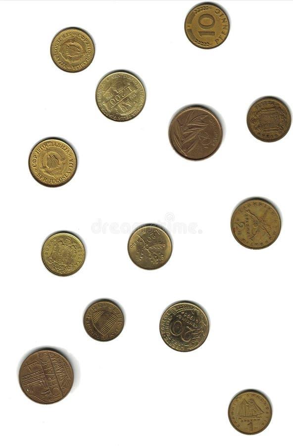 European currencies stock photos