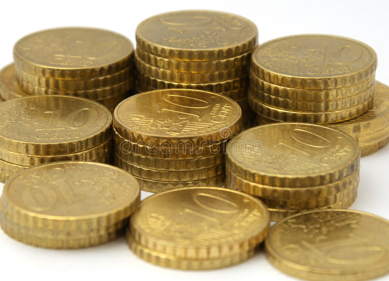 Download European currency coins stock image. Image of hand, european - 3070915