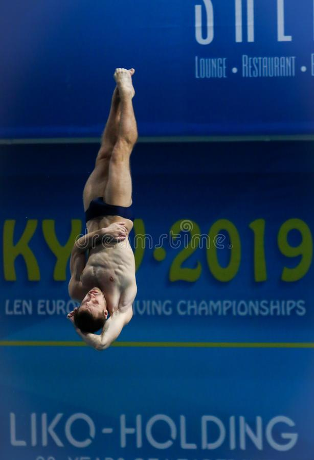 2019 European Diving Championship in Kyiv, Ukraine stock photos