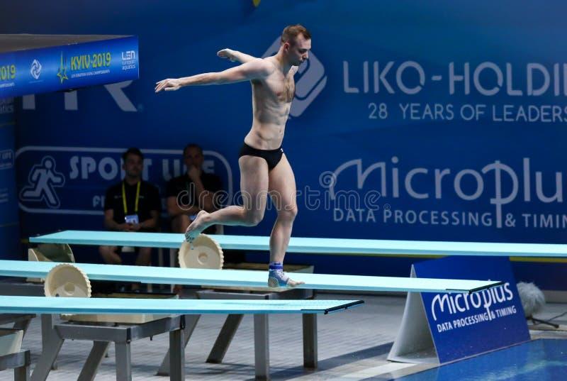 2019 European Diving Championship in Kyiv, Ukraine stock image
