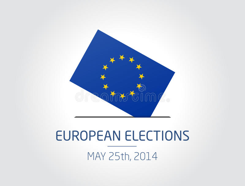 European Elections. Vector illustration about the European elections vote for the may 25th, 2014 royalty free illustration