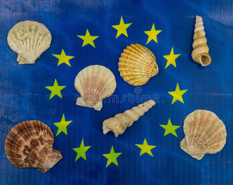 European fishing law. S to protect fish and shells royalty free stock photography