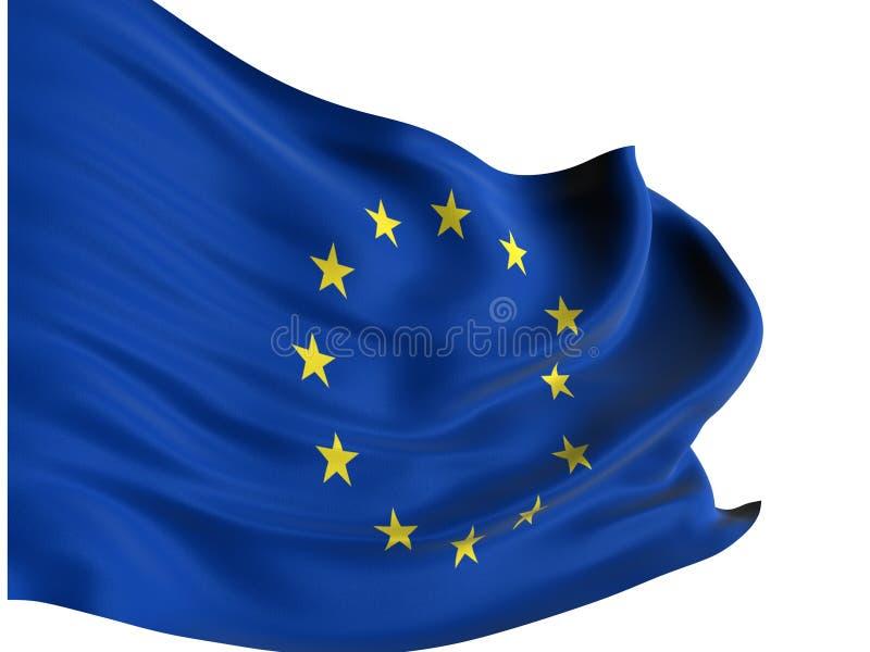 Download European flag stock illustration. Illustration of blue - 7482274