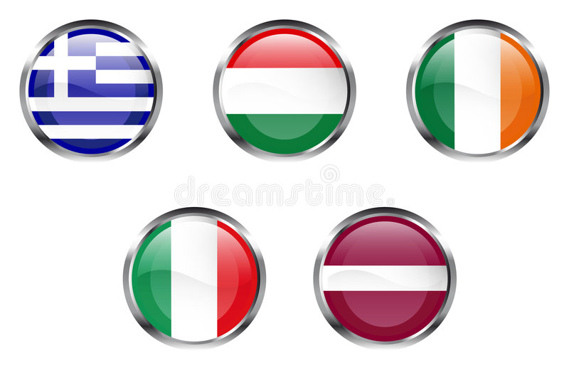 Download European Flag Buttons - Part 3 Stock Vector - Image: 3932558
