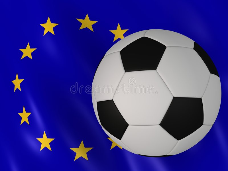 Download European flag and football stock illustration. Image of flag - 4833132