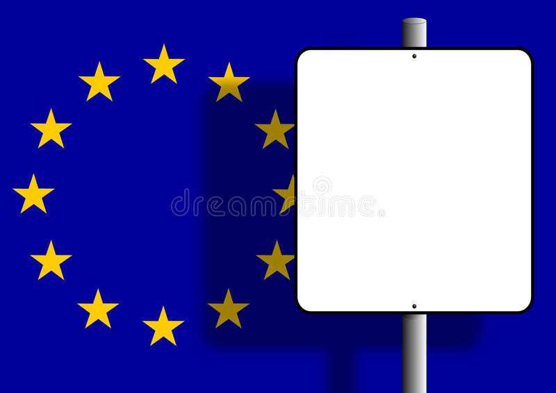Download European flag sign post stock illustration. Image of business - 13482238
