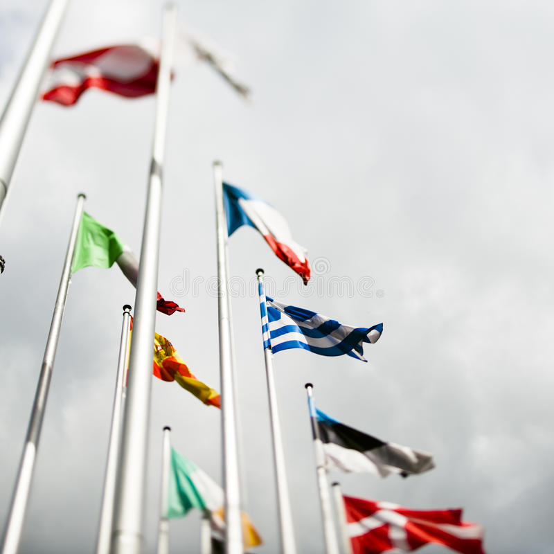 Download European Flags With Greek Flag In The Centre Stock Image - Image: 25821551