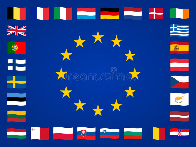 European flags royalty free illustration