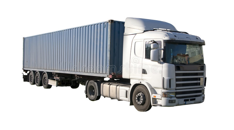Download European flatbed stock photo. Image of deliver, container - 4341938