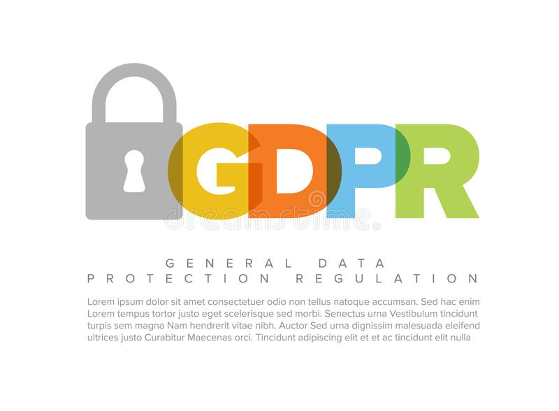 European GDPR concept flyer template royalty free illustration