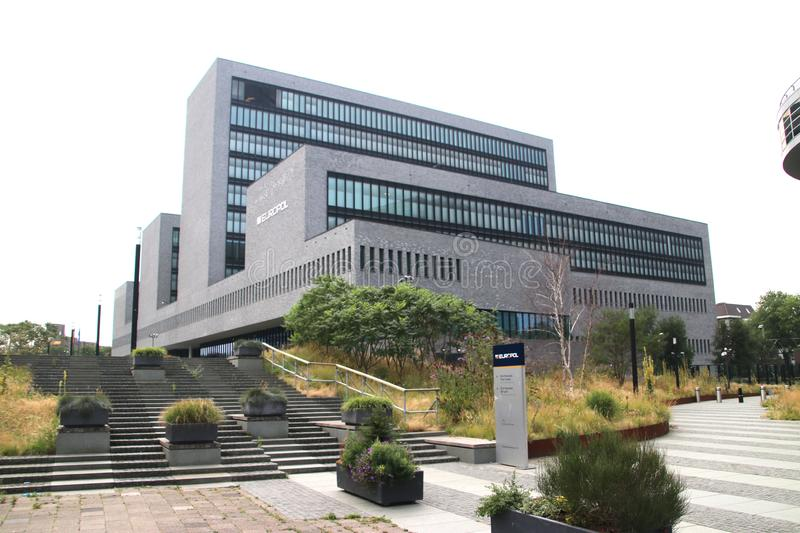 European head office of the European Police EUROPOL in The Hague, the Netherlands. stock photography