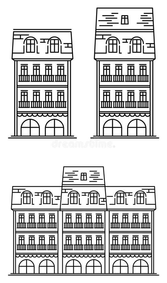 European_house ilustração stock