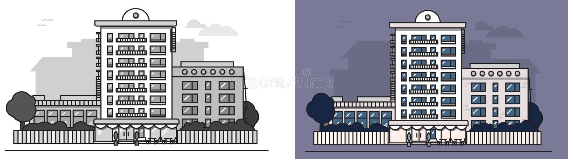 European_house royalty illustrazione gratis