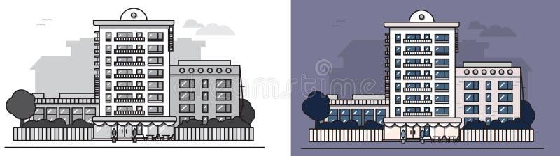 European_house royalty-vrije illustratie