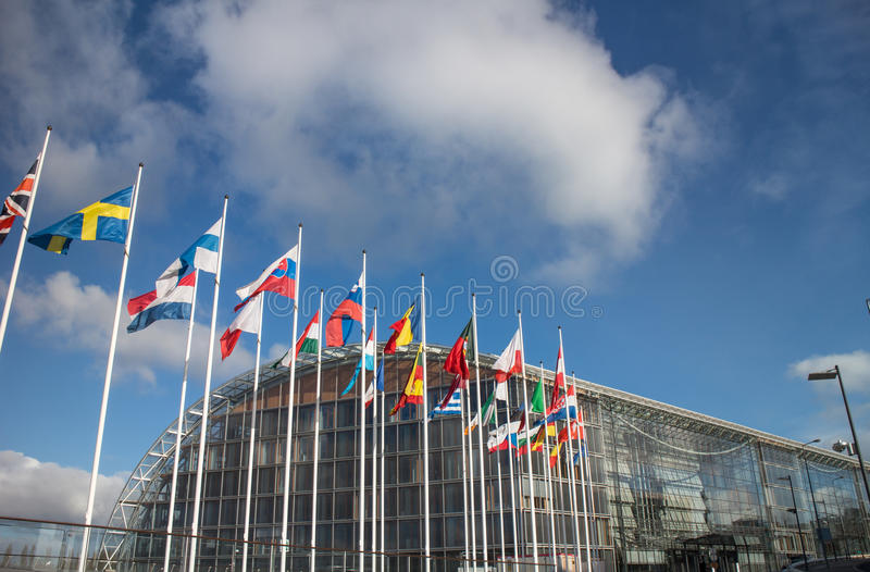 European Investment Bank (BEI). In Luxembourg royalty free stock images