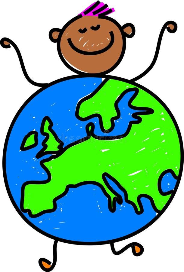 Download European kid stock illustration. Illustration of globe - 1668475
