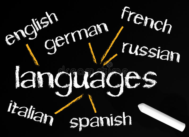 European languages on board royalty free stock image