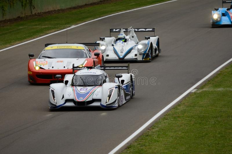 European Le Mans Series track action at Imola circuit royalty free stock photos