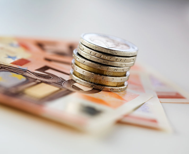 European money stock image