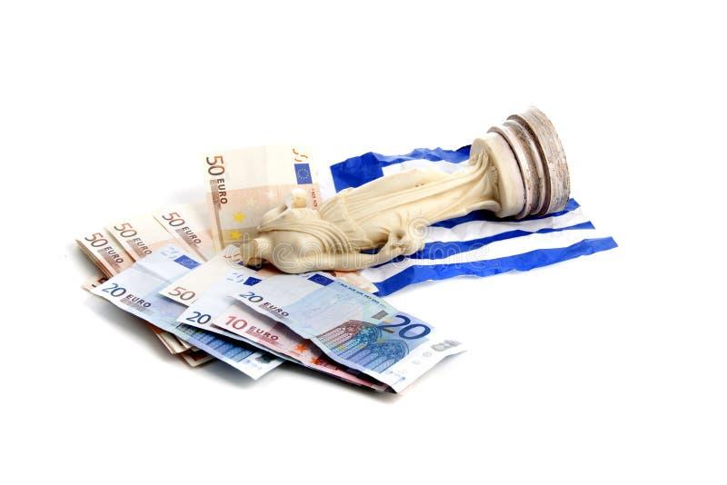European money crisis. Downfall of the Greek economy due to the European economic crisis royalty free stock photo
