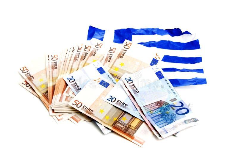 European money crisis. Downfall of the Greek economy due to the European economic crisis royalty free stock photos