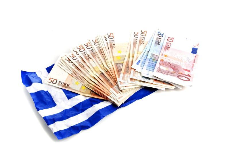 European money crisis. Downfall of the Greek economy due to the European economic crisis royalty free stock images