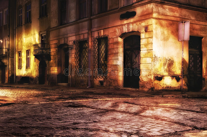 European old town street royalty free stock photography