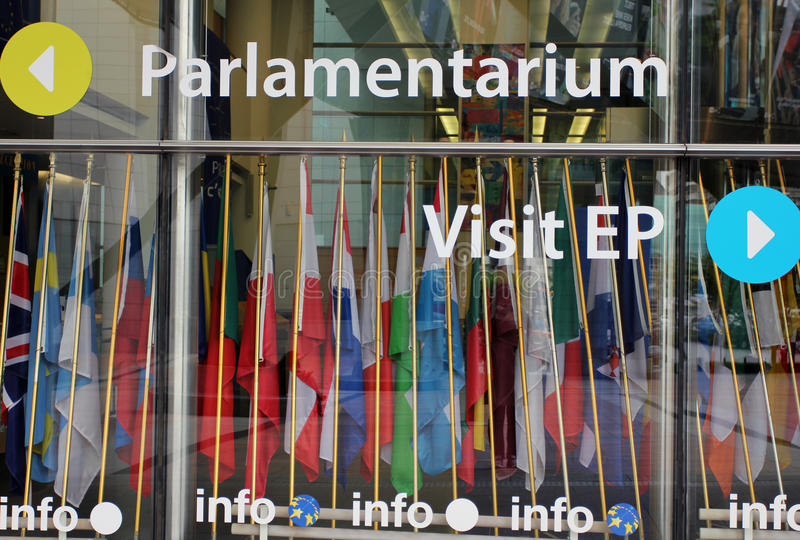 European Parlament in Brussels, Belgium stock photography