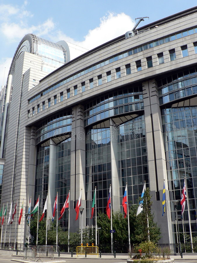European Parliament building royalty free stock photos