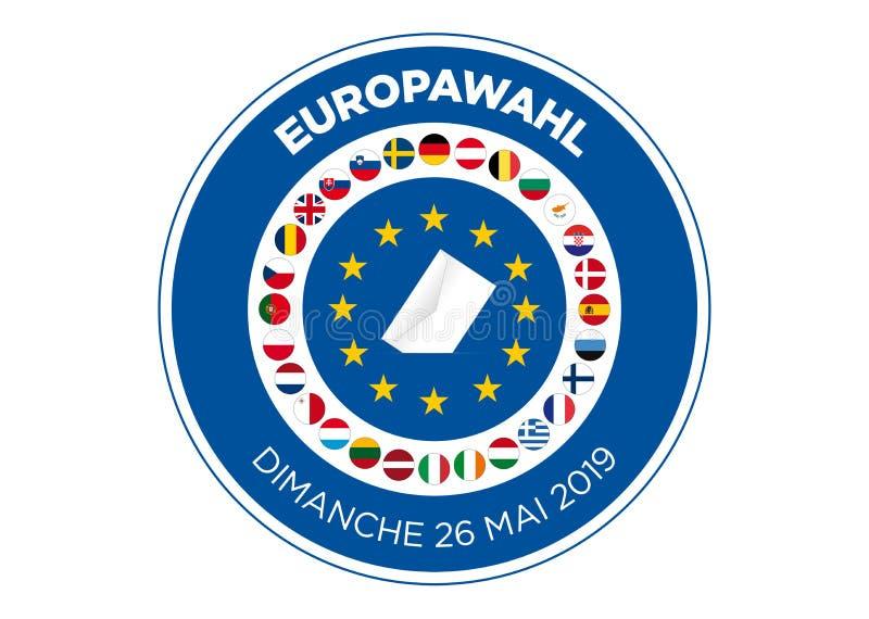 2019 European Parliament election stock illustration