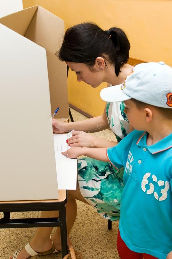 European Parliament election, 2014 (Poland) royalty free stock photography