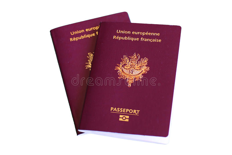 European Passport to travel. Illustration with passeport on white background royalty free stock photo